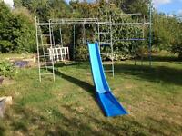 TP large metal climbing Frame, slide, fireman pole