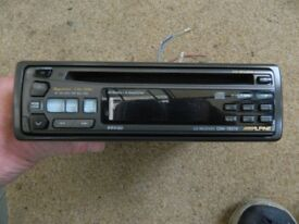 Alpine Car Radio CD in good condition with Instruction manual