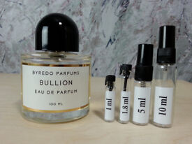 Byredo - Bullion fragrance samples and decants - HelloScents