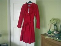 Per Una Red water resistant coat
