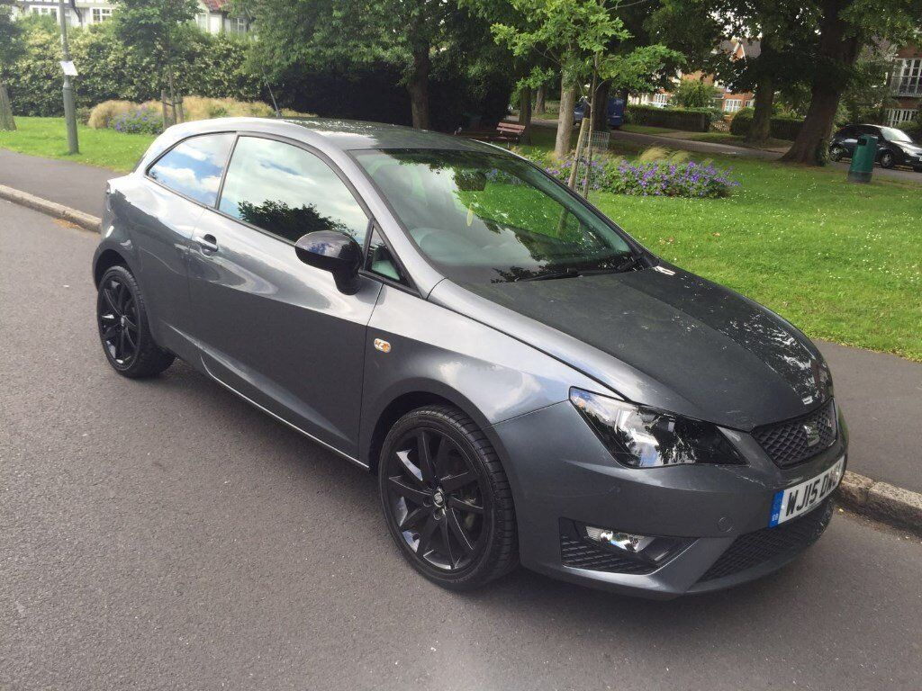 2015 seat ibiza fr tsi 1 2 grey black edition cat d 7 500 miles only excellent condition in. Black Bedroom Furniture Sets. Home Design Ideas
