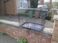 large dog cage in black 2 door