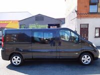 Finance Available & NO VAT. Vauxhall Vivaro LWB 6 seat factory fitted crew van..ONLY 19K from new (6