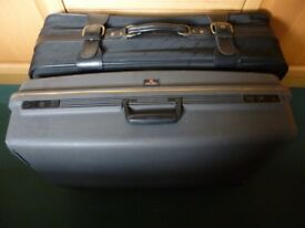 2 Large suitcases - Delsey hardshell case & a soft lightweight case