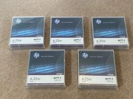 5 x HP LTO-6 Ultrium 6.25 TB BaFe RW Data Cartridge C7976B, £100 for 5 Cartridges