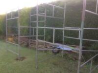Used scaffolding tower