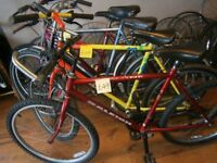 Used Bikes from £49 with a guaranteed periods. New / Second hand Bicycle Tyre / Tubes (Full range)