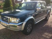 Ford ranger twin cab pick up truck