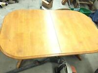 Kitchen table and chair honey oak