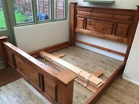Super King size Handcrafted solid oak Manor bed MUST SEE