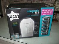 BRAND NEW TOMMEE TIPPEE NAPPY DISPOSAL UNIT & REFILLS