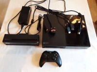 Xbox One with Kinect sensor and 1 controller and all cables