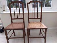 Pair of Bergere Bedroom Chairs