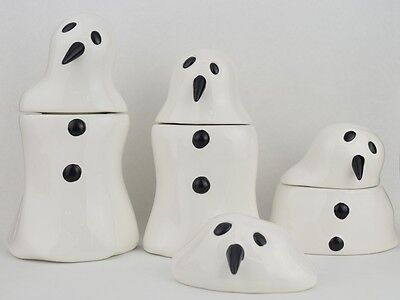 MELTING SNOWMAN SET OF 4 POTTERY JARS BY MARCEL DZAMA CEREALART](Melting Snowman)