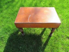 Victorian mahogany baby bath table - large