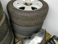 Citroen alloys x 3 with tyres PCD 4x108 may fit other cars