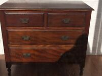 Chest of Drawers in Rich Dark Wood in Very Good Condition