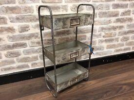 Galvanised Metal Wall Shelf Unit
