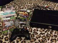 Microsoft Xbox 360, Slim, bundle 120gb, Black with 10 Games