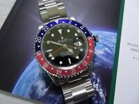 Rolex GMT II 16710 - 3186 with 2 years Rolex Warranty