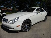 2009 Mercedes-Benz CLS550 AMG SPORTS PKG -- WHITE ON BEIGE LEATH