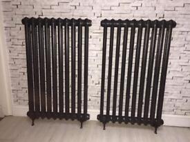 Pair of cast iron radiators
