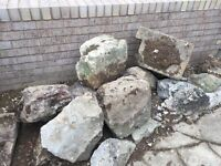 Garden faced rocks small to large £5-£10 each