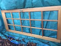 2 x hardwood doors with 15 glass panes.