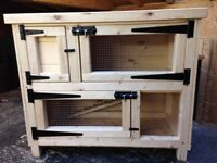 Two Tier Guinea Pig Hutch and run