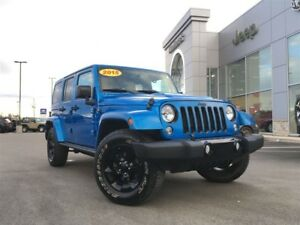 2015 Jeep WRANGLER UNLIMITED ALTITUDE HARD/SOFT TOP, NAV, LEATHE