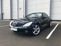 Mercedes SLK 350 Blue with One lady owner Full Merc history Immaculate condition Blue Leather !