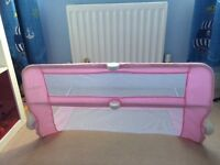 Pink bed guard