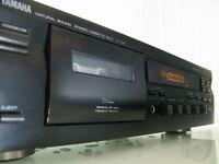 Denon CD player and Yamaha Cassette Deck
