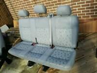 Genuine VW T5 triple folding rear seat