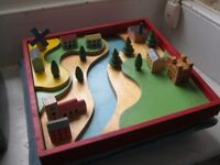 CHAD VALLEY VINTAGE WOODEN VILLAGE - FROM 1950s