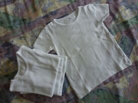 4-Boys Short Sleeved Thermal Winter Ribbed T-shirts, Age 4-5Yrs.