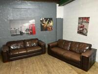 STUNNING REAL LEATHER SOFA SET 3+2 SEATER