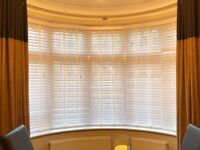 White Satin Ecowood Window Blind *Brand new used for a photo shoot only*