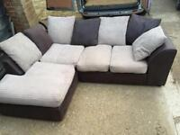 Brown and beige corner sofa in very good condition