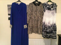 3 ladies dresses and a pair of leggings. Asos and Boohoo.