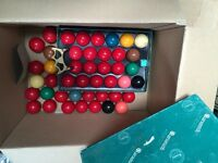 Snooker balls x 2 full sets
