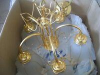 2 x Gold Chandelier lights