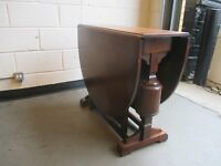 VINTAGE MAHOGANY GATE LEG DROP LEAF DINING TABLE FREE DELIVERY