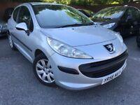 57 plate - peugoet 207s - 1.4 petrol - one year mot - 3 door - bargain