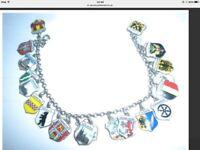 60 year old charm bracelet. Germany shields.