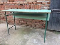 Vintage Table Iconic School Statement Furniture Dining Side Display Desk