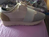 White balenciagas runners size 9/9.5/10