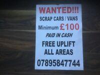 Wanted all scrap vw beetles minimum £150