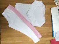 M&S Girls thermal underwear, 2 pairs of pants & 1 t-shirt, age 4-5
