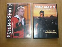 Freddie Star & Mad Max 2 on DVDs.
